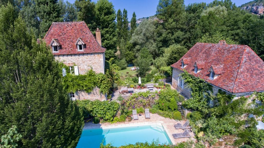 Le Moulin sur Célé - Extérieur, piscine & jardins