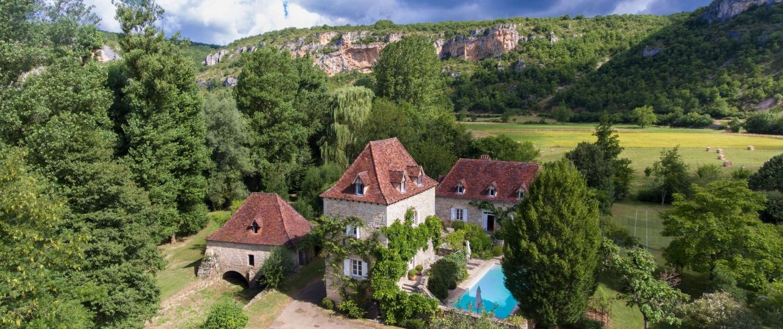 Le Moulin sur Célé - Extérieur, Piscine et Jardins